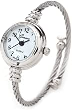 New Geneva Silver Cable Band Women's Small Size Bangle Watch