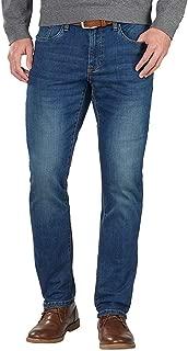 IZOD Men's Comfort Stretch Jean (Sits Below Waist, Straight Leg, and Slim Fit)