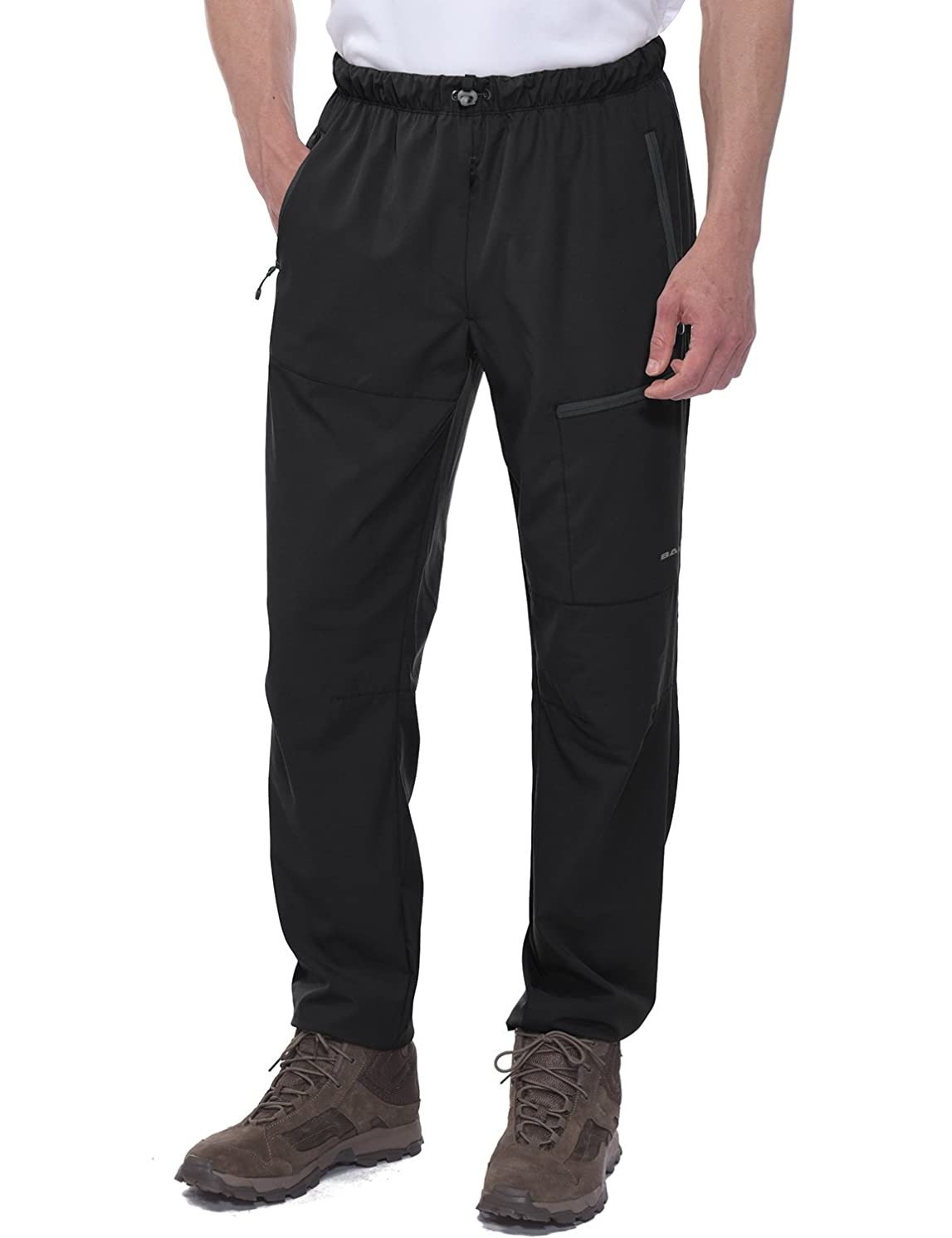 Baleaf Men's Hiking Pants UPF 50+ Stretch Cargo Pants with Zipper Pockets Water Resistant