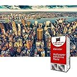 GREAT ART Foto Mural New York City Skyline 336 x 238 cm - Papel Pintado 8 Piezas incluye Pasta para pegar