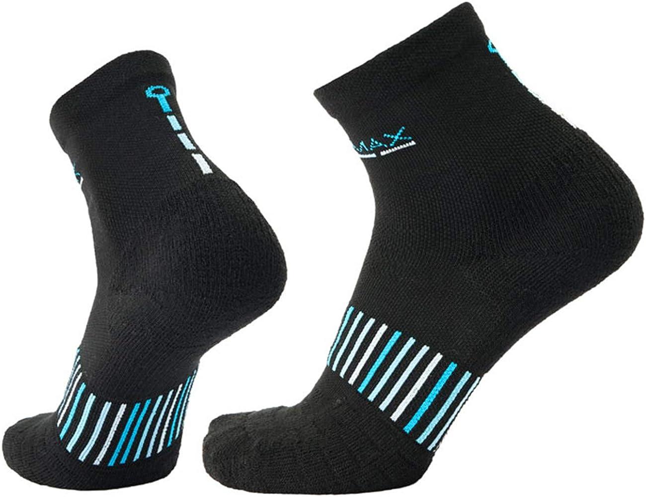 COOLMAX Brand Performance Mild Compression Support(15-18mmhg) Quarter Cushion Socks (3 pairs) for Men & Women Socks