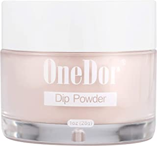OneDor Nail Dip Dipping Powder – Acrylic Color Pigment Powders Pro Collection System, 1 Oz. (07 - Nude Pink)