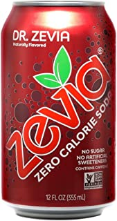 Zevia Zero Calorie Soda, Dr. Zevia, Naturally Sweetened Soda, (24) 12 Ounce Cans; Fruit-flavored Carbonated Soda; Refreshing, Full of Flavor and Delicious Natural Sweetness with No Sugar