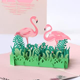 printable flamingo birthday cards