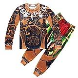 KIDHF Moana Maui Boys Cartoon Comfy Loose 2-Piece Long Pajama Set Sleepwear, 110/3-4T