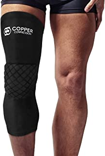 Copper Compression Volleyball Knee Pads + Basketball Knee Pad + Multi-Purpose Work Sleeve for Women, Men, Youth, Boys, Girls. Guaranteed Highest Copper Knee Protector Support Fit with Padding (XL)