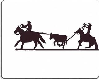 MSD Caucho Natural Alfombrilla para ratón Imagen ID: 2377995Buckaroos Cowboys con lariats Cuerda Ganado de Sus Caballos W...