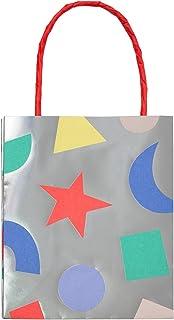 حقيبة حفلات فضية هندسية من ميري، عيد ميلاد، زينة للحفلات، أواني طعام - عبوة من 8 قطع