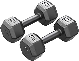 Ailj Hexagon Dumbbells Set, Home Gym Fitness Equipment, Dumbbells For Men And Women, Suitable For Strength Training, Full ...