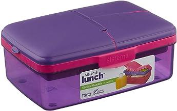 Sistema Lunchbox Quaddie Purple/Orange 2L