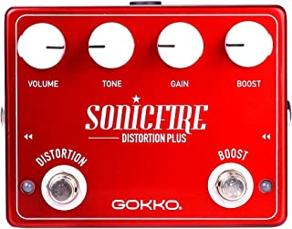 GOKKO Guitar Effects Pedal GK-41 SonicFire Plus Distortion Pedal Boost Guitar Pedal