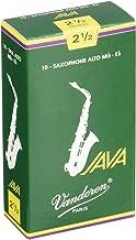 Vandoren SR2625 Alto Sax JAVA Reeds Strength 2.5; Box of 10
