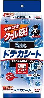 エリエール 汗拭きシート 顔?ボディ ドデカシート for MEN スーパークールタイプ 徳用 30枚(顔面すっぽり 30cm×30cm) 爽やかなシトラスの香り