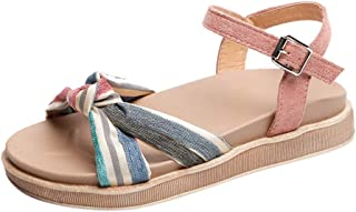 9d3de648ef0bb BASACA Sandales Fête Femme Reine Fille Printemps Mariage Été Chaussures  Mariage Boucle Plate Une Bouche De