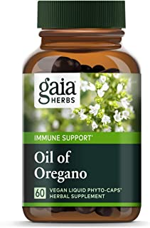 Sponsored Ad - Gaia Herbs Oil of Oregano, Vegan Liquid Capsules, 60 Count - Immune and Intestinal Support for Healthy Dige...