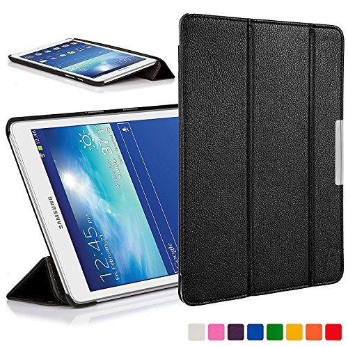 Forefront Cases® Samsung Galaxy Tab 3 Lite 7.0 T110 Hülle Schutzhülle Tasche Bumper Folio Case Cover Stand - Ultra Dünn Leicht mit R&um-Geräteschutz (SCHWARZ)