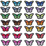 28 Pcs Mariposa Parches Bordados Apliques Pegatinas Bordados para Ropa DIY Accesorios Decorativos para Planchar y Coser Para Decoración de Camisetas Chaquetas Zapatos Gorras