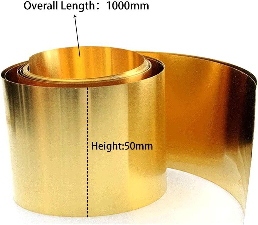JKGHK Brass Metal Thin Sheet Foil Plate 50mm x 1000mm,1mm x 50mm x 1000mm