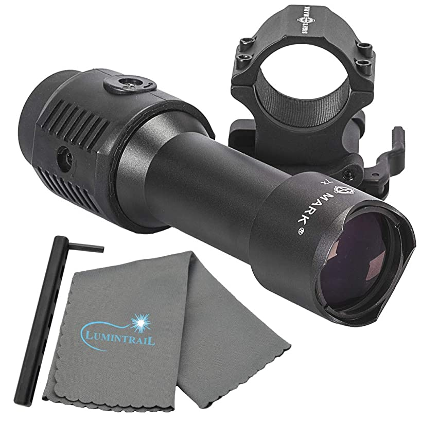 Sightmark 7X Tactical Magnifier with Slide to Side Mount Bundle Includes a Lumintrail Microfiber Cleaning Cloth rhtvckyjud