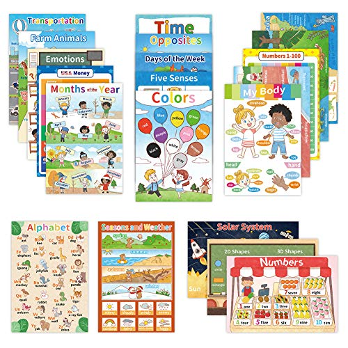 20 Educational Posters for Toddler and Kids, Perfect Learning...