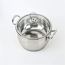 Cooking Stock Pot Thickened Korean Hot Pot with Lid Stainless Steel Hot Pot Soup Pot Clear Soup Pot (Color : Multi-colore...