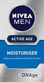 NIVEA MEN Active Anti Age Face Moisturiser (50ml), Wrinkle Reducing Men's Face Cream with Creatine and Folic Acid