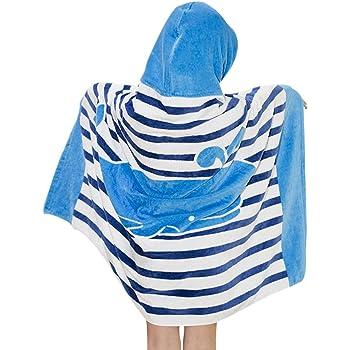 Niños Niñas Toalla de Playa con Capucha - Bebé Bata de Baño 100% Algodón Toalla de Baño Dibujos Animados Manta de Baño Natación Toalla deportiva: Amazon.es: Ropa y accesorios