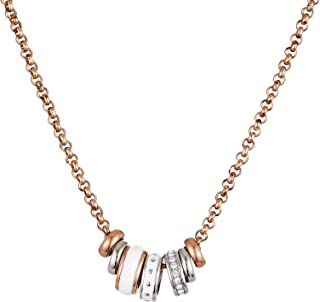Fossil Women's Rose Gold Classic Necklace - JF01122998