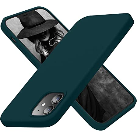 Cordking Designed for iPhone 12 Pro Case, Designed for iPhone 12 Case, Silicone Shockproof Phone Cover with [Soft Anti-Scratch Microfiber Lining] 6.1 inch, Teal