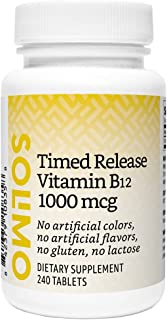 Amazon Brand - Solimo Timed Release Vitamin B12 1000 mcg - Normal Energy Production and Metabolism, Immune System Support ...