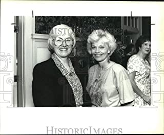 Vintage Photos 1991 Press Photo Pat Myers and Gay Harris at Zonta Club Antique Show Dinner
