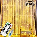 ZWOOS Luces de Cadena, 300 LEDs Cortina de Luces con...