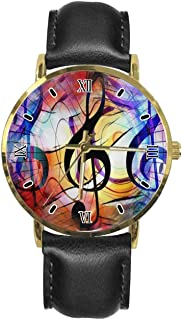 Custom Men's Women's Wrist Watches Simple Stainless Steel Leather Strap Quartz Watch