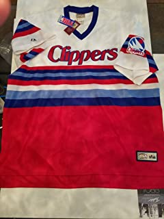 Mitchell & Ness Hardwood Classics Clippers Throwback Jersey Rare Vintage Red White Blue 4XL