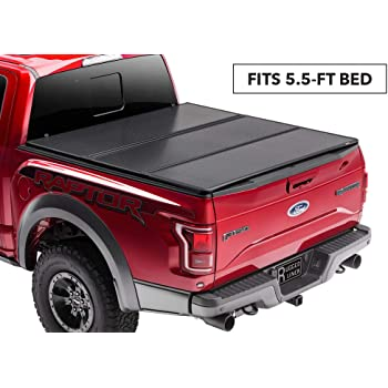Amazon Com Rugged Liner Premium Hard Folding Truck Bed Tonneau Cover Hc Tun5514 Fits 14 18 Toyota Tundra 5 5ft With Or W O Utility Track 5 5 Bed Automotive