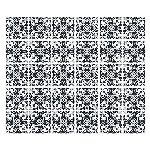 Gwotfy 30 (Piezas) Adhesivo para Azulejos 10x10 cm, Pegatinas para pelar y Pegar escaleras calcomanías de Azulejos para Cocina Sala de Estar baño decoración para el hogar Autoadhesivo