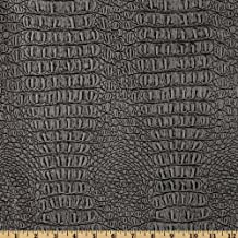 Plastex Fabrics Faux Leather Gator Metallic Pewter Fabric By The Yard