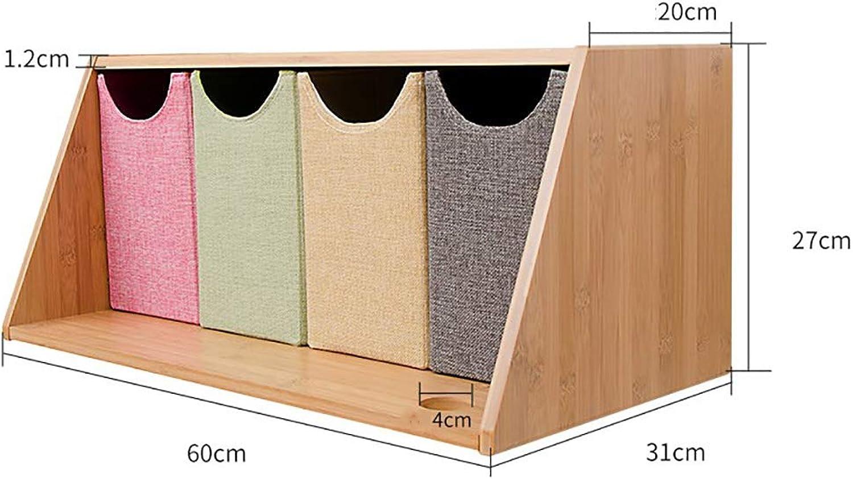 AI XIN SHOP An der Wand befestigtes rechteckiges Regal-Lagerregal mit 4 Stofffchern, kreatives Studien-Wand-Gitter-Bücherregal, moderner manueller DIY Schliefach für Schlafzimmer (gre   B)