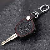 SDLWDQX Funda de cuero para llave Suzuki SX4 Swift Grand Vitara Liana, 2 botones remoto llavero cubierta accesorios de coche