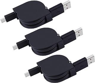 قابل للسحب USB نوع C كابل نوع C شاحن USB C إلى USB A مزامنة بيانات الشحن الحبل ملاحظة 8 شاحن لسامسونج غالاكسي ملاحظة 9، S9...