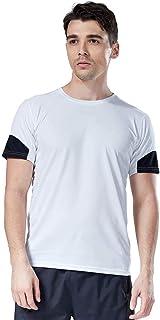 Aingeal 抗菌防臭 ストレッチ 機能Tシャツ メンズ 吸汗速乾 半袖tシャツ 反射テープ付き 高視認 ドライTシャツ 通気性抜群 トレーニング ショートスリーブ メッシュ 上質 メンズtシャツ スポーツウェア ジョギング 登山