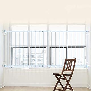 Barrera seguridad Rejillas de seguridad de ventana extra ancha Rejas de seguridad para niños Barras de rejilla de balaustres de acero, Blanco, 77 cm de altura, 290-335 cm de ancho Barandilla resistent