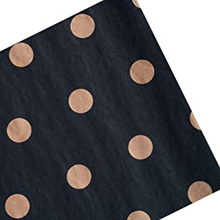 Tim&Lin 50 Sheets Black Tissue Paper Premium Wrapper Paper - 20 x 28 Inch - Gold Polka Dot Black Gift Wrapping Pack Paper ...