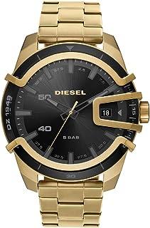 Men's Caged Stainless Steel Quartz Watch