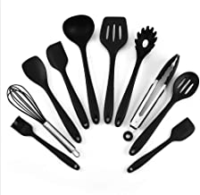 10pcs Cooking Kitchen Utensil Household Silicone Tools Set Non-Stick Baking Brush Tong Whisk Spoon Turner Soup