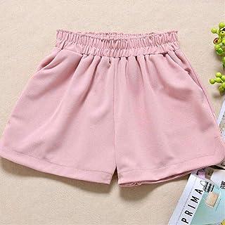 4Xl 5Xl Plus Size Chiffon Shorts Ladies Loose Thin Elastic Waist Thin Summer Shorts White Black Pink Ladies Wide Leg Shorts