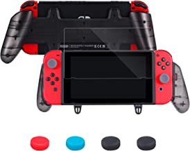 Zadii Ergonomic Pro Grip Compatible with Nintendo Switch, Accessories Kit Includes Comfortable Grip, Tempered Glass Screen...