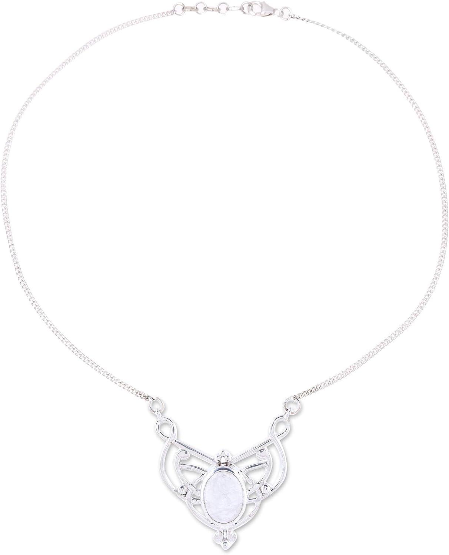 NOVICA Sale SALE% OFF Rainbow Moonstone .925 Manufacturer OFFicial shop Silver Pendant Sterling Necklace