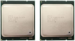 Intel Matching Pair Xeon E5-2670 Eight Cores Processors 2.60GHz 20MB Smart Cache 8.00 GT/S QPI TDP 115W SR0KX BX80621E52670