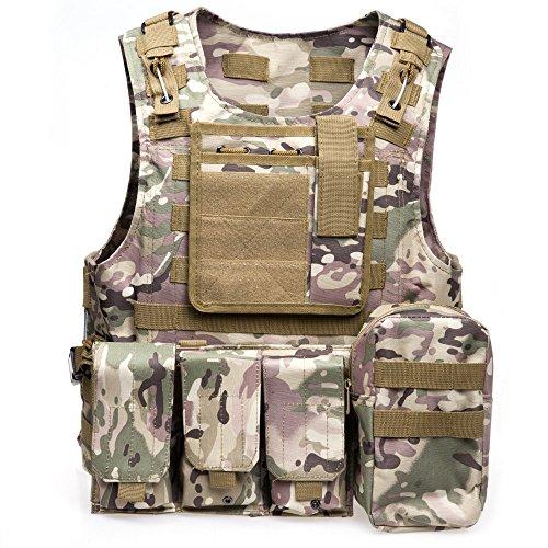 Softair Paintball Assault Tactical FSBE Style Carrier MOLLE Combat Weste MultiCam & # xff08; MC & # xff09;